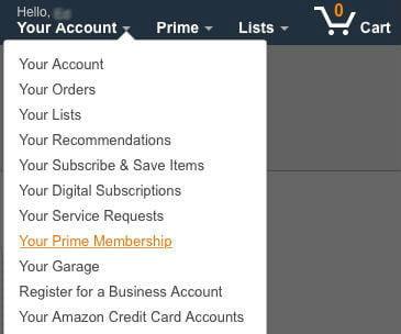 how to cancel membership amazon