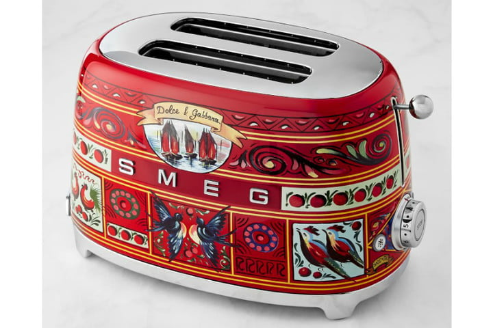 smeg dolce and gabbana i love sicily small kitchen appliances  2 slice toaster ws