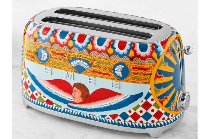 smeg dolce and gabbana i love sicily small kitchen appliances  4 slice toaster ws